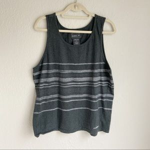 O'neill mens gray striped tank top large